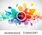 abstract colored flower