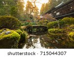 autumnal pond in nikko national ... | Shutterstock . vector #715044307