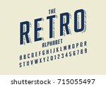 vector of retro bold font and... | Shutterstock .eps vector #715055497