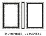 vector classical book cover.... | Shutterstock .eps vector #715064653