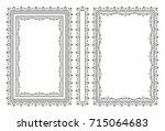vector classical book cover.... | Shutterstock .eps vector #715064683