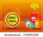 vector illustration of diwali... | Shutterstock .eps vector #715091203