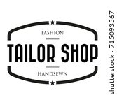 tailor shop vintage stamp logo | Shutterstock .eps vector #715093567