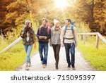 adventure  travel  tourism ... | Shutterstock . vector #715095397