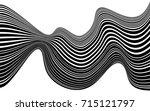optical art abstract background ... | Shutterstock . vector #715121797