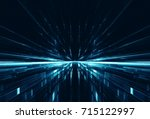 abstract lens flare space or... | Shutterstock . vector #715122997