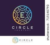 circle initial letter e logo... | Shutterstock .eps vector #715140793