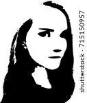 sexy young woman graffiti... | Shutterstock .eps vector #715150957