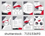 abstract vector layout... | Shutterstock .eps vector #715153693