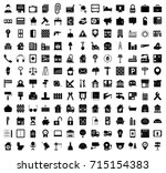 real estate icons | Shutterstock .eps vector #715154383