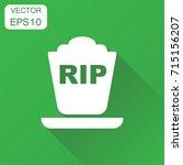 halloween grave icon. business... | Shutterstock .eps vector #715156207