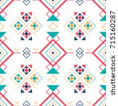 geometric seamless pattern with ... | Shutterstock . vector #715160287