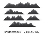 rows of mountains illustration.... | Shutterstock .eps vector #715160437