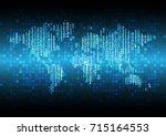 binary circuit future... | Shutterstock .eps vector #715164553