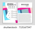 abstract vector layout... | Shutterstock .eps vector #715167547