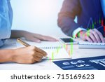 financial rates in business   Shutterstock . vector #715169623