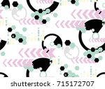 seamless background of... | Shutterstock .eps vector #715172707