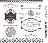 set of ornate vector frames ... | Shutterstock . vector #71517421