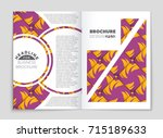 abstract vector layout... | Shutterstock .eps vector #715189633