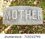 Mother Graveyard Marker In A...