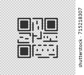 qr code vector icon eps 10.... | Shutterstock .eps vector #715218307