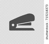 stapler vector icon eps 10.... | Shutterstock .eps vector #715218373