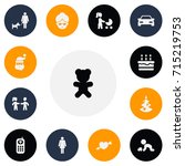 set of 13 editable family icons....