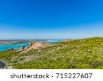 rock viewpoint   west coast... | Shutterstock . vector #715227607