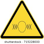 high volume sign warning | Shutterstock .eps vector #715228033