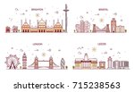 business city in england.... | Shutterstock .eps vector #715238563