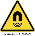 magnetic field warning   Shutterstock .eps vector #715240603