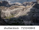 shadows and light in dolomites | Shutterstock . vector #715243843