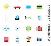 travel icons. set of transport... | Shutterstock .eps vector #715260373