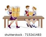 vector illustration of couple... | Shutterstock .eps vector #715261483