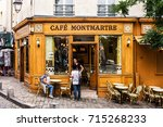 paris  france   july 06  2017 ... | Shutterstock . vector #715268233