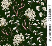 cute  seamless floral pattern...   Shutterstock . vector #715268647