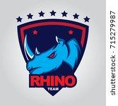 rhino logo vector for sport team | Shutterstock .eps vector #715279987