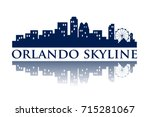 orlando skyline city logo | Shutterstock .eps vector #715281067