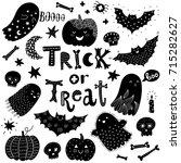 hand drawn cute halloween set  | Shutterstock .eps vector #715282627