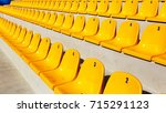 row of plastic chairs. empty... | Shutterstock . vector #715291123