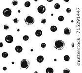 dots pattern. seamless brush...   Shutterstock .eps vector #715291447