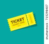 ticket icon vector illustration ... | Shutterstock .eps vector #715298407
