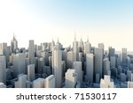 3d city in sunny day   Shutterstock . vector #71530117