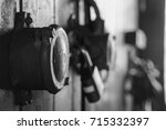 old industry ship light switch | Shutterstock . vector #715332397