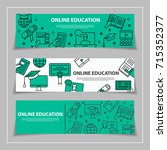 internet education and learning ... | Shutterstock .eps vector #715352377