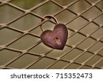 Close Up Of A Heart Shaped Lov...