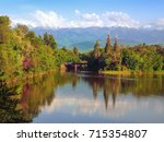 in the lake water reflect the... | Shutterstock . vector #715354807