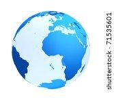 Transparent The Globe Blue...