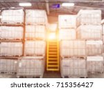 blurred warehouse or storehouse ... | Shutterstock . vector #715356427