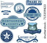 set of generic stamps and signs ... | Shutterstock .eps vector #715359823